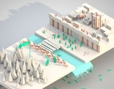 Game design for game called Oblivion defence. Isometric design and low poly world :)
