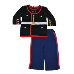 Trooper Clothing Marine Baby Dress Blues 03 monthsBlack top  Blue pant with red stripe ** Visit the image link more details. Note:It is affiliate link to Amazon.