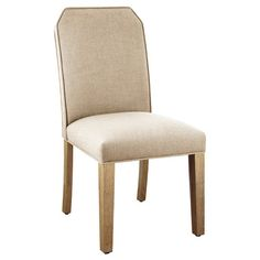 Decorate your dining room with an elegant approach to function with the Gem Cut Dining Chair from Nate Berkus™. This beautiful dining room chair adds a flourish of contemporary style to any home without detracting from other decorative elements, and the strong geometric design is softened by diagonal top corners. It's a gorgeous way to make every diner feel like they're sitting at the head of the table.