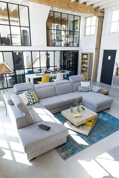 You can design the Dax sofa according to your wishes. Choose your elements, the… Armoire, My First Apartment, Loft, Corner Sofa, Contemporary Interior, Interior Architecture, Outdoor Furniture Sets, Modern Design, Relax