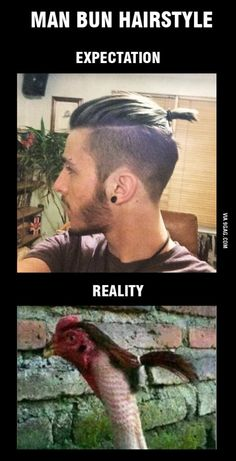 38 Funny Pictures Expectation-Vs-Reality – gmail - Page 5 Memes Humor, Funny Jokes, Hilarious, Sarcastic Humor, Man Ponytail, Man Bun Hairstyles, Hairstyles Videos, Indian Hairstyles, Expectation Reality