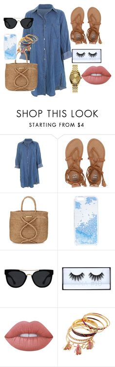 """Sin título #17"" by sarai-almaguer on Polyvore featuring moda, Billabong, ViX, Skinnydip, Quay, Huda Beauty, Lime Crime y Nixon"