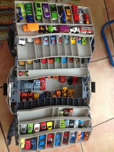 Sturdy tackle box to hold cars