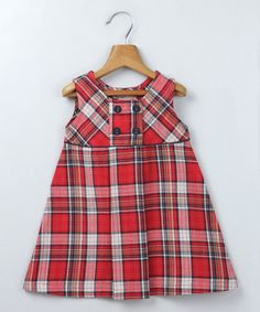 Loving this Red Plaid Swing Dress - Infant, Toddler & Girls on #zulily! #zulilyfinds