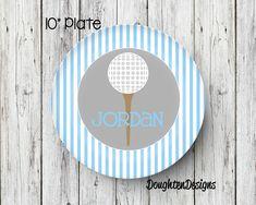 Personalized Melamine Plate Golf Ball plate Golf kids plate personalized kids plate  sc 1 st  Pinterest & Personalized Melamine Plate Halloween plate Boy Frankenstein plate ...