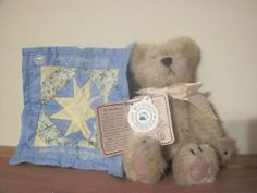 "Boyds Bear 6"", from the Quilt Patch Collection RETIRED"