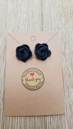 Black Leather Stud Rose Earrings Rose Earrings, Stud Earrings, Getting Wet, Leather Earrings, Beautiful Hands, Black Leather, Stud Earring, Earring Studs, Pink Earrings