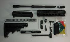 "AR-15 Rifle Kit complete with 10"" Quadrail NO Lower Unassembled"