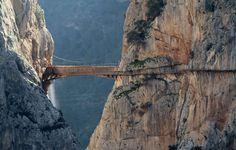 Une randonnée vertigineuse, le Caminito del Rey dans la province de Malaga (Espagne).