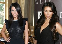Kim K hair extensions before and after -- Abbey is needed!