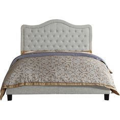 Adella Queen Upholstered Panel Bed ($313) ❤ liked on Polyvore featuring home, furniture, beds, upholstered bed, upholstery furniture, upholstery bed, fabric beds and fabric furniture