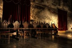 Medieval table and chairs High Fantasy, Medieval Fantasy, Fantasy World, Merian, Throne Room, Chronicles Of Narnia, Medieval Times, Prince, Story Inspiration