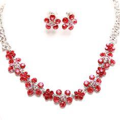 Red bride diamond marriage necklace