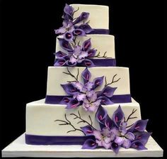 purple weddingcakes - Google Search