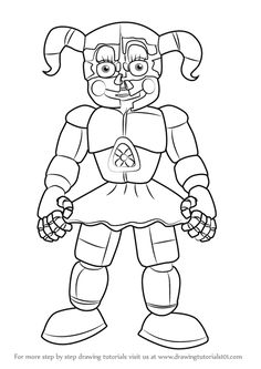 Learn How to Draw Circus Baby from Five Nights at Freddy's (Five Nights at Freddy's) Step by Step : Drawing Tutorials Minion Coloring Pages, Super Coloring Pages, Paw Patrol Coloring Pages, Baby Coloring Pages, Monster Coloring Pages, Cat Coloring Page, Disney Coloring Pages, Animal Coloring Pages, Coloring Sheets
