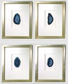 Quatrefoil Design — Custom framed agates from Quatrefoil Design (sold individually)
