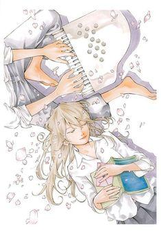 Shigatsu wa Kimi no Uso (Kousei Arima, Kaori Miyazono) ❤ Kimi No Na Wa, Soul And Maka, Soul Eater, Anime Comedia, Hikaru Nara, Miyazono Kaori, Manga Anime, Anime Art, Your Lie In April