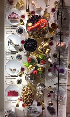 @jimmychoo is winning #Christmas.. A feast of #crystals & #shoes!!! @SwarovskiUK where can we get these table decos?