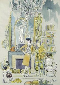 Cecil Beaton Portrait of Coco Chanel in Her Salon 1920-40
