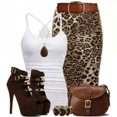 Love this outfit, I have the exact skirt but with zebra stripes, but I really want this one!