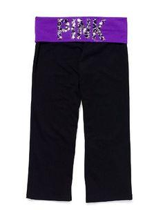 victoria secret crop yoga pants...yes