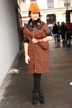 Miroslava Duma, Milan Fashion Week Fall 2013 Street Style / Photo by Anthea Simms.