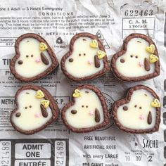 Small Desserts, Cute Desserts, Sweets Recipes, Snack Recipes, Icebox Cookies, Cupcake Cookies, Bread Art, Egg Tart, Japanese Snacks