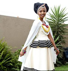 Photos of Traditional Xhosa Wedding Photos: South African + Traditional + Wedding + Dresses Xhosa Attire, African Attire, African Wear, African Women, African Beauty, African Print Dresses, African Print Fashion, African Fashion Dresses, African Dress