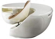 Maurice Calka chair and desk, contemporary space age