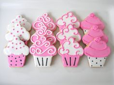 Items similar to 1 dzn. Cupcake Sugar Cookies on Etsy Fancy Cookies, Iced Cookies, Biscuit Cookies, Cute Cookies, Yummy Cookies, Cupcake Cookies, Sugar Cookies, No Bake Cookies, Cookie Icing