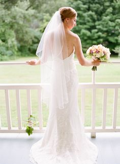 """{REAL BRIDE} Nothing like a happy bride.Farrell Klein wore """"Lyda"""" gown by Sarah Jassir.  Amazing image by Marni Rothschild Pictures LLC"""