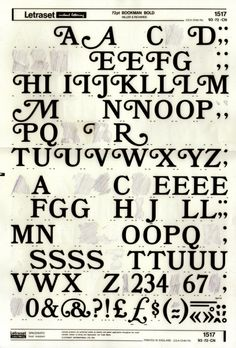 Bookman Bold - Letraset. I have some old Letraset from my dad who is an architect... I framed it and put it in my office at work, with the pencil rubbings.