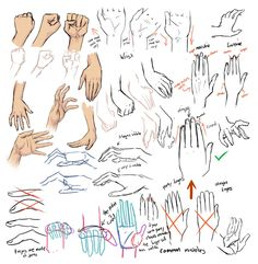 Tips for drawing hands