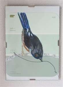 Paint Chip Art Original Bird by artbyteresasheeley on Etsy