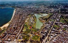 Aerial view of Albert Park