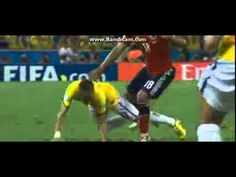 Neymar **WORLD CUP ENDING** Injury ~ Brazil vs Colombia ~ World Cup 2014