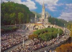 LOURDES, France...a Sacred Place, where the apparitions of the Blessed Virgin Mary happened during the 18th century.