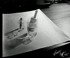 Brilliant Draw A Glass Ideas. Exquisite Draw A Glass Ideas. Cool Pencil Drawings, Unique Drawings, Chalk Drawings, 3d Drawings, Realistic Drawings, Pencil Art, 3d Street Art, 3d Painting, 3d Artwork
