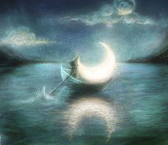 art cloud clouds floating mariahobbit Favim Excilica Gone Moon Shadow, Nocturne, Moon Pictures, Moon Pics, Moon Illustration, Sun Moon Stars, Good Night Moon, Moon Magic, Beautiful Moon