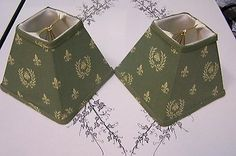 2 CHANDELIER CANDELABRA LAMP SHADES NAPOLEON BEE FLEUR DE LIS FRENCH COUNTRY