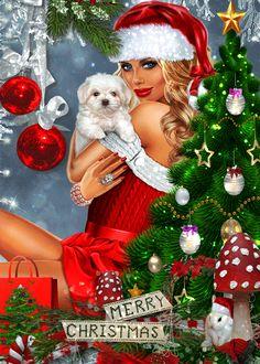 Merry Christmas Animation, Merry Christmas Pictures, Christmas Scenery, Merry Christmas Greetings, Merry Christmas And Happy New Year, Christmas Wishes, Christmas Art, Vintage Christmas, Christmas Decorations