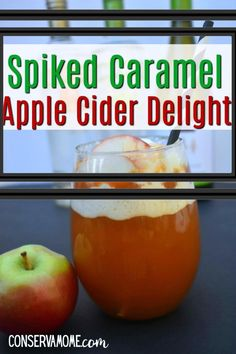 This delicious Spiked Caramel Apple Cider Delight is a refreshing fall treat that is perfect for an afternoon treat, a party drink or just because. Easy to make, capturing all the favorite fall flavors in a delicious Fall Cocktail. Easy Drink Recipes, Best Cocktail Recipes, Drinks Alcohol Recipes, Vegan Recipes Easy, Apple Recipes, Yummy Drinks, Fall Recipes, Smoothie Recipes, Beef Recipes