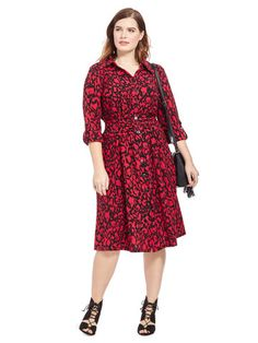 6d42ddb433315 Plus Size IGIGI Delsee Dress In Ruby Abstract Hourglass Fashion