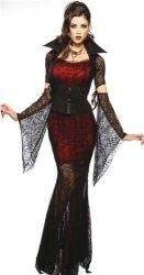 3 Pieces Womens Sexy Ghost Vampire Knight Costume. Great look for a spooky Halloween party.
