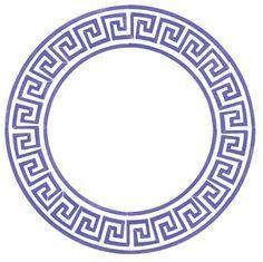 Small Greek Key Circle | Designer Stencils