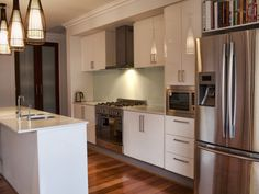 Pendant lighting in a kitchen design from an Australian home - Kitchen Photo 1351395