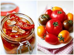 how to make dried tomatoes at home Dried Tomatoes, Food Inspiration, Pesto, Pickles, Food And Drink, Meals, Fresh, Vegetables, Cooking