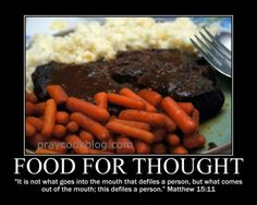 Matthew 15-11 Food For Thought
