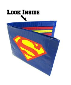 Items similar to Superman Duct Tape Wallet on Etsy Superman Crafts, Duck Tape Wallet, Duck Tape Crafts, Mk Purse, Michael Kors, Love Craft, Best Christmas Gifts, Duct Tape, Crafts To Do