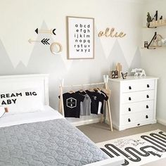 Love this beautiful little boy's room by @myhomestyle89  OYOY Adventure rug is now back in stock  . #kidsroom #kidsdecor #kidsinterior #kidsroomdecor #kidsroominspo